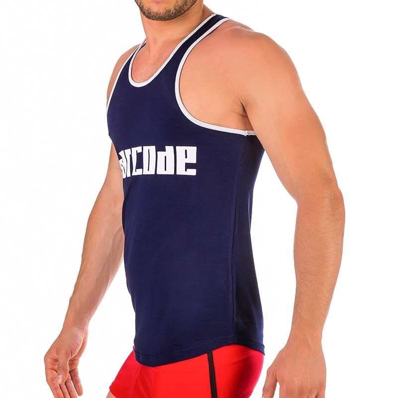 BARCODE Berlin TANK TOP regular Sport LIKAN Draussen 91314 Sportler navy