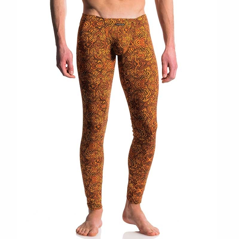 MANSTORE LEGGINGS hot TIGHT LION Club Afrika M610 Print Wear brown-orange