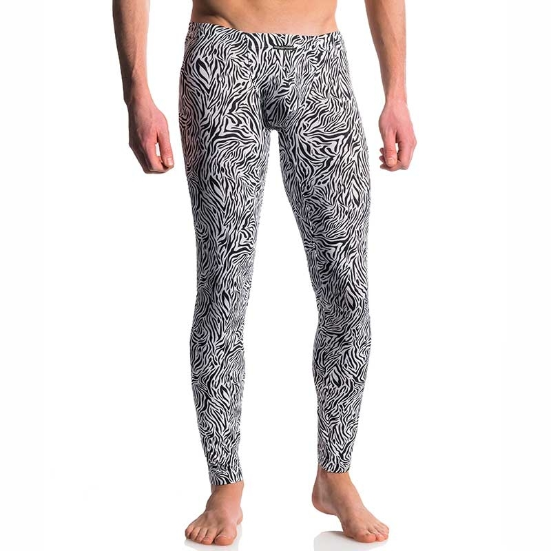 MANSTORE LEGGINGS M610 with designer zebra pattern