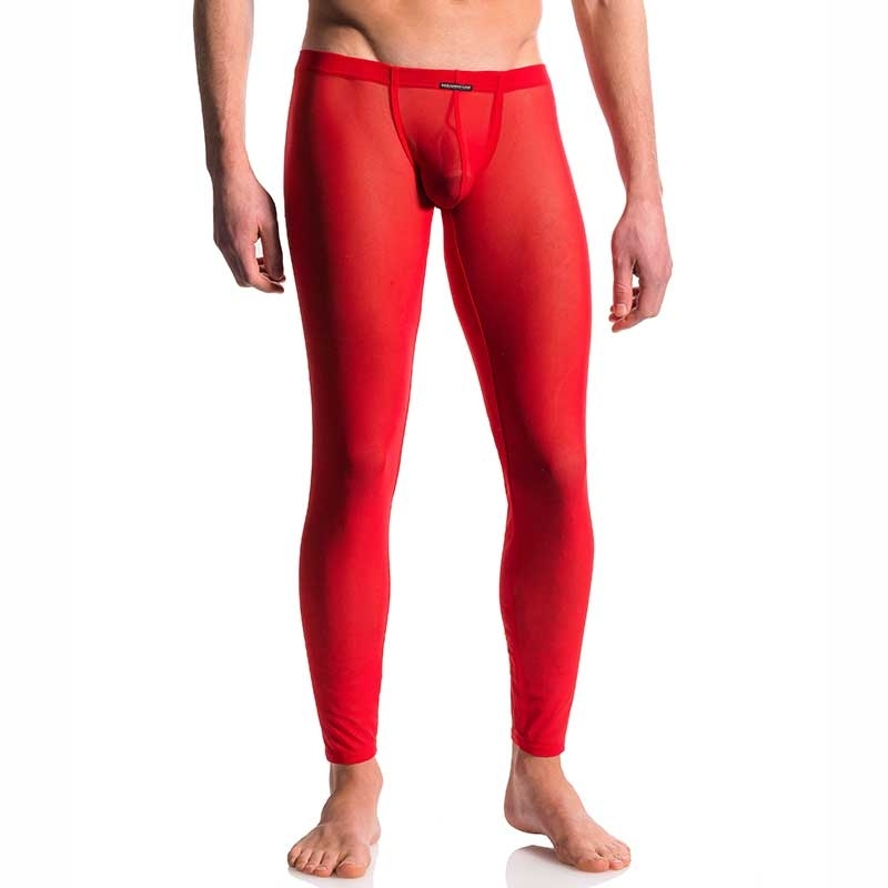 MANSTORE LEGGINGS hot BUNGEE TEUFEL Chili M608 Fetisch Wear red