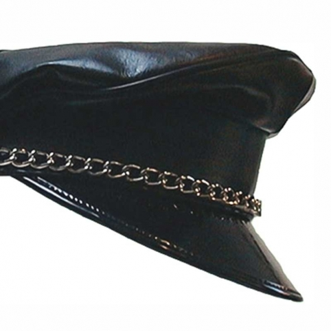 MISTER B CAP hot FETISH DADDY Leather MB-450354 Military Look black