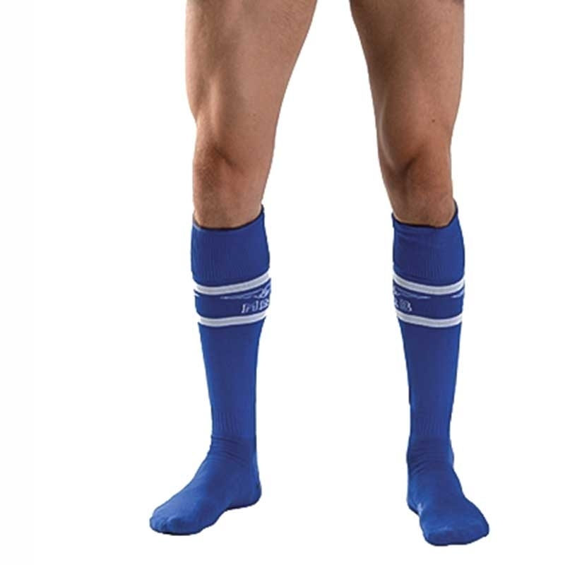 MISTER B FUSSBALL SOCKEN regular URBAN SPIEL Sport MB-820111 Fussball Look blue