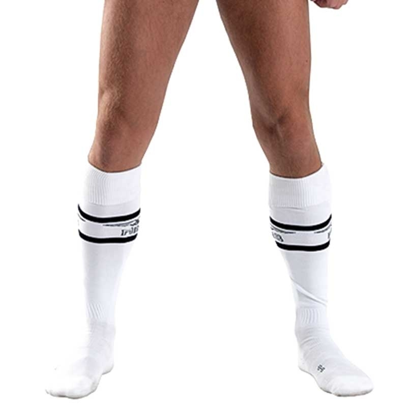 MISTER B FUSSBALL SOCKEN regular URBAN SPIEL Sport MB-820141 Fussball Look white