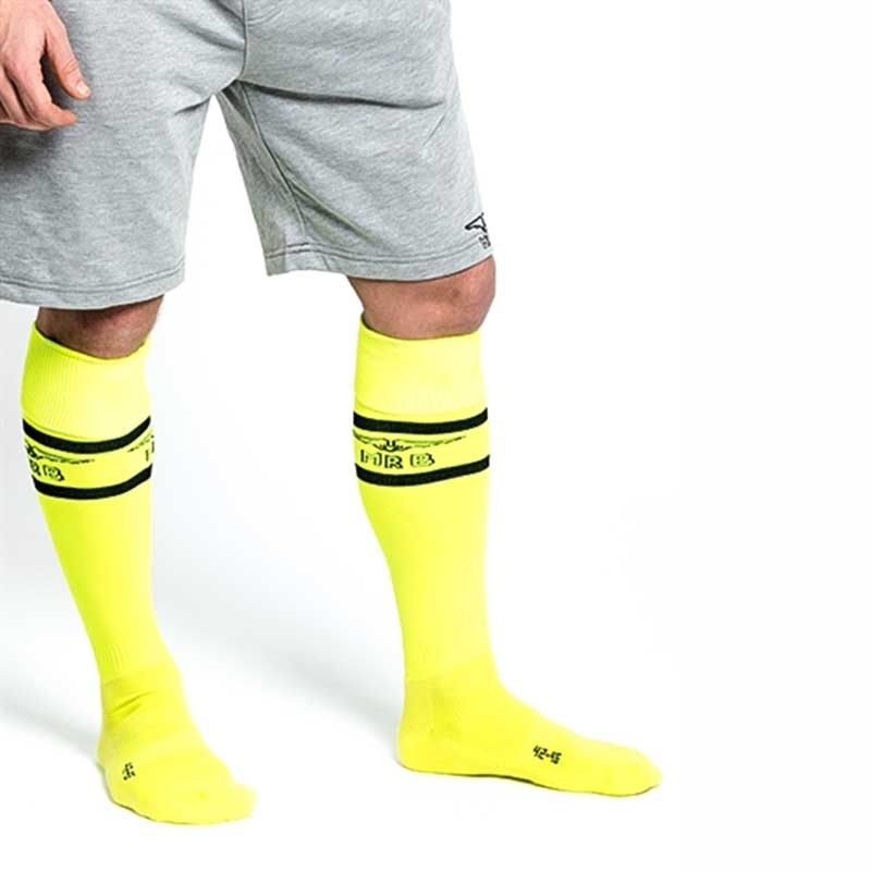 MISTER B FUSSBALL SOCKEN regular NEON URBAN SPIEL Sport MB-820161 Fussball Look neon-yellow