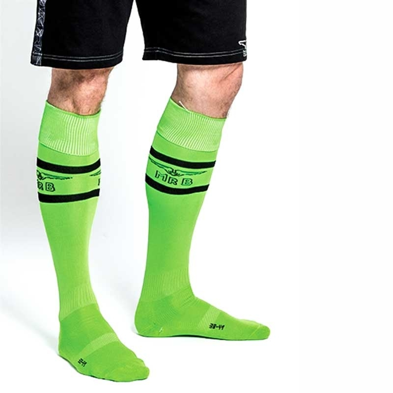 MISTER B FUSSBALL SOCKEN regular NEON URBAN SPIEL Sport MB-820171 Fussball Look neon-green