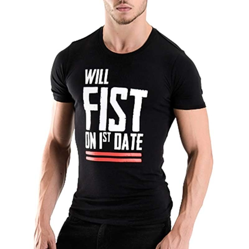 MISTER B T-SHIRT regular FIST DATE FF Play MB-821002 Fetish Wear black