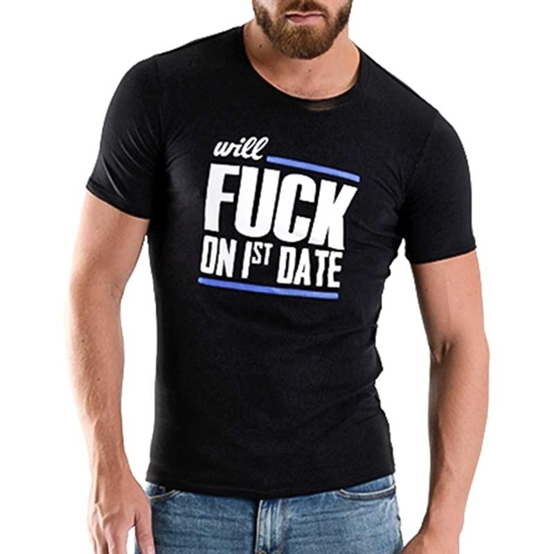 MISTER B T-SHIRT regular FUCK DATE Abend Spass MB-821012 Fetisch Wear black