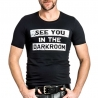 MISTER B T-SHIRT regular DARKROOM SPASS Fetisch MB-821032 Club Wear black