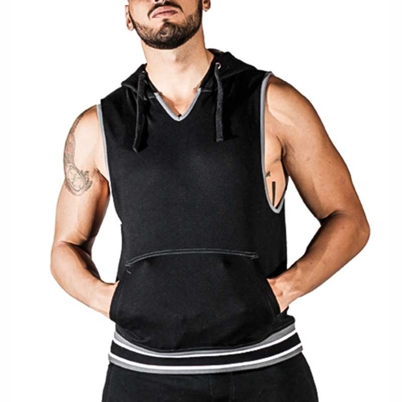 MISTER B TANK TOP regular SAN JOSE Kapuze MB-821202 Athletik Wear black