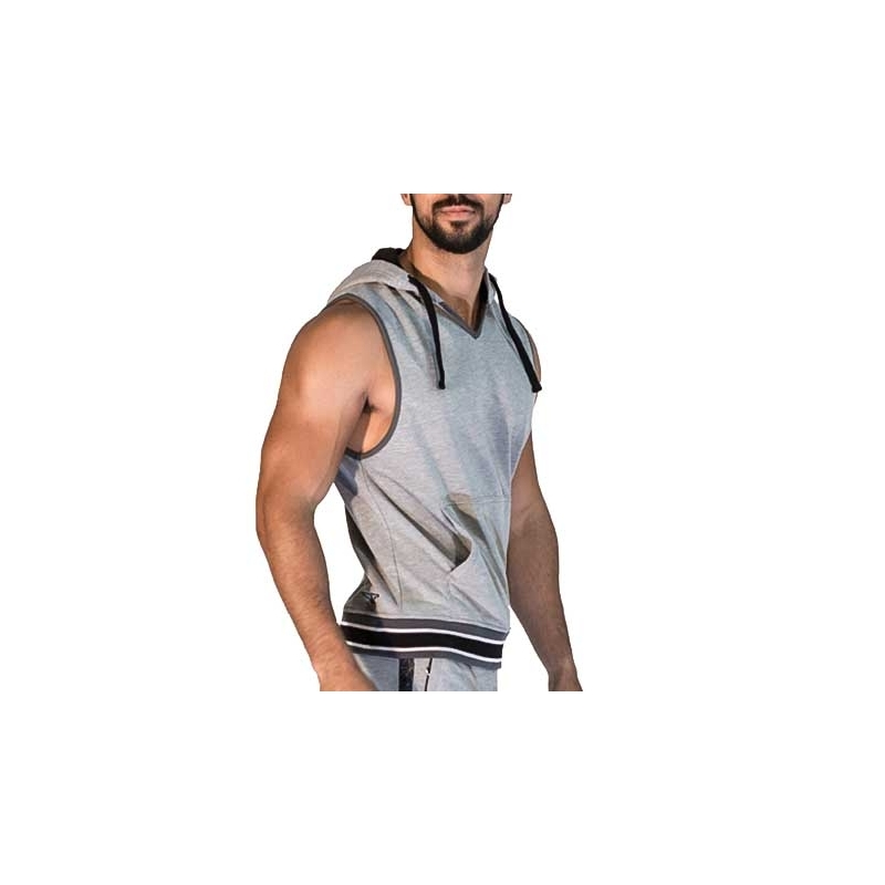 MISTER B TANK TOP regular SAN JOSE Kapuze MB-821212 Athletik Wear grey