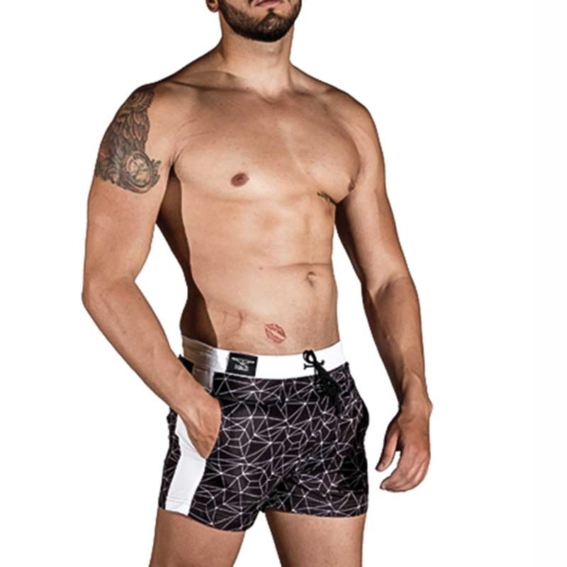 MISTER B SHORTS regular SANTA MONICA Urban Swim MB-821302 Mainstream black