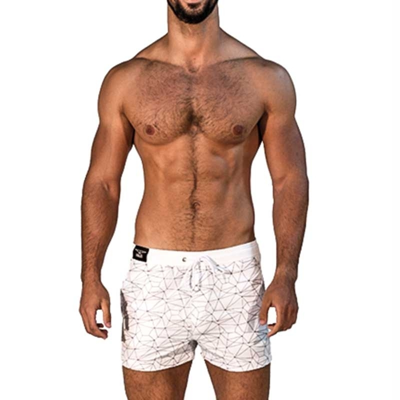 MISTER B SHORTS regular SANTA MONICA Urban Swim MB-821312 Mainstream white