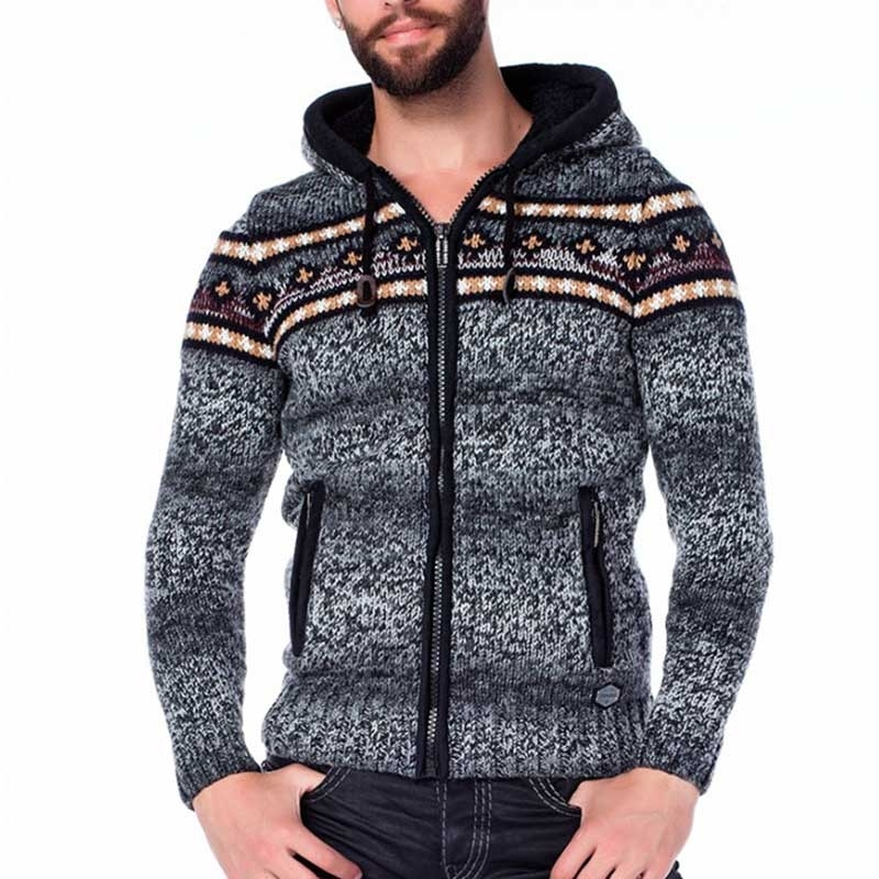 CIPO & BAXX CARDIGAN CP120 with arctic pattern