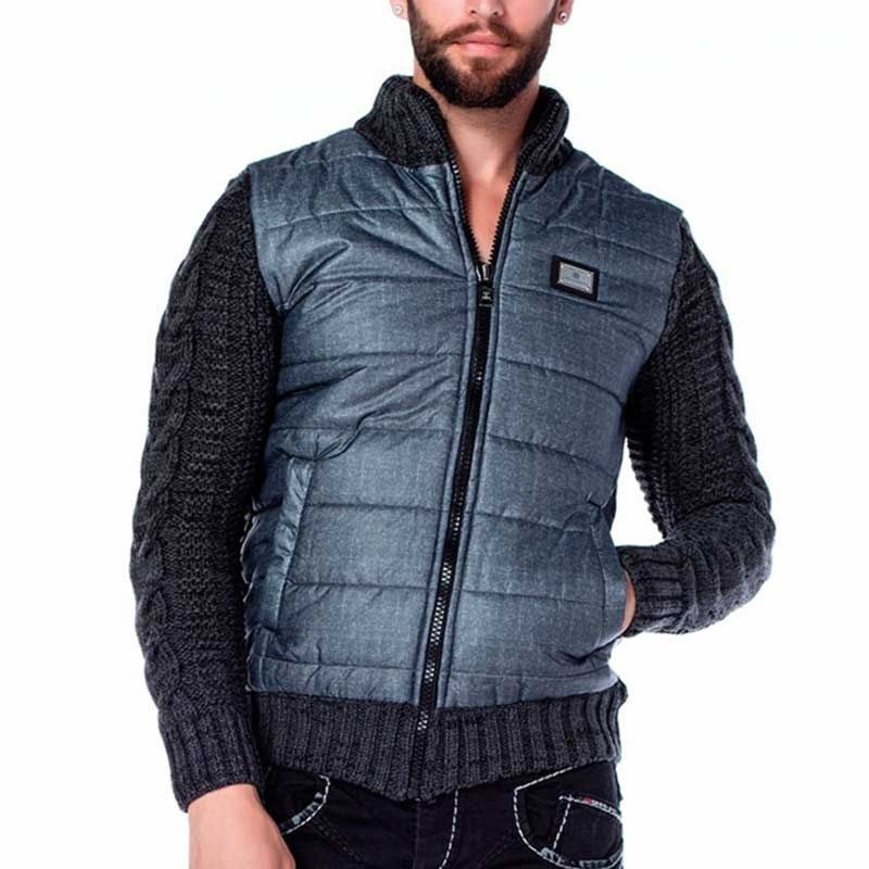 CIPO & BAXX STRICKJACKE regular WINTER NACHT Down CP127 Freizeit anthracite