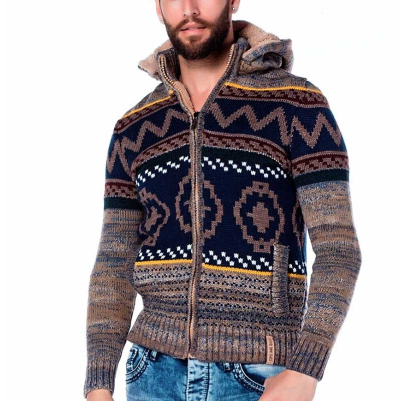 CIPO & BAXX CARDIGAN CP128 with Indian pattern