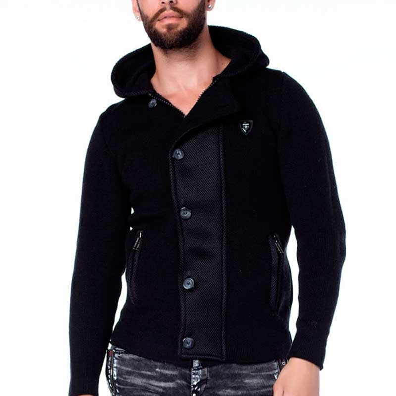 CIPO & BAXX STRICKJACKE modern WINTER PORSCHE Schick Mode CP129 Abendgarderobe black