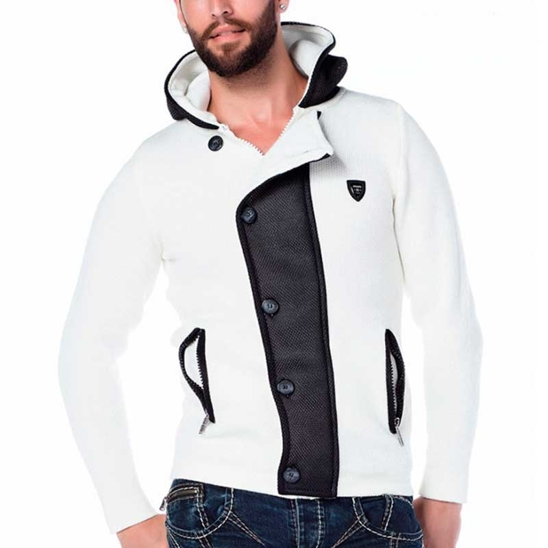 CIPO & BAXX STRICKJACKE modern WINTER PORSCHE Schick Mode CP129 Abendgarderobe cream