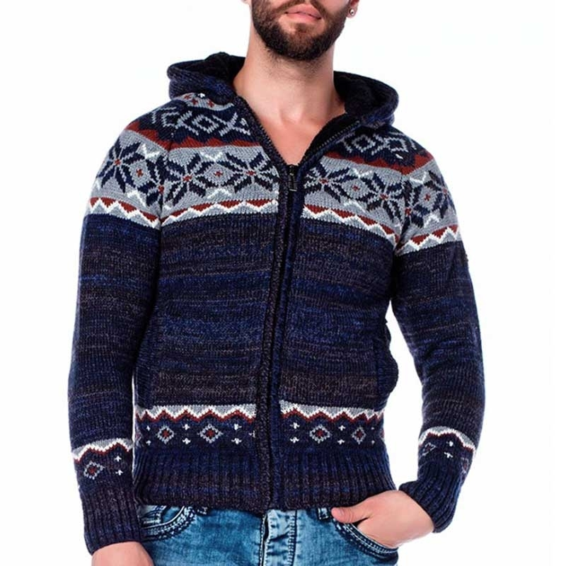 CIPO & BAXX CARDIGAN CP130 with winter pattern