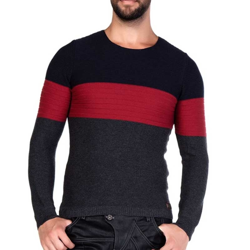 CIPO & BAXX SWEATER CP131 finely ribbed fabric