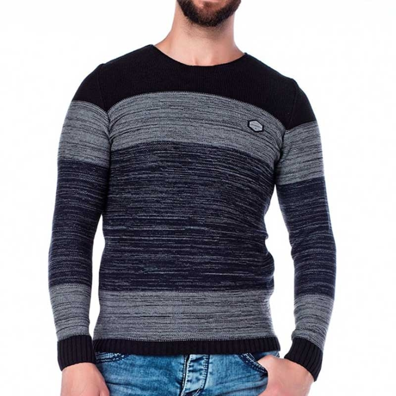 CIPO & BAXX SWEATER CP134 4 layered striped