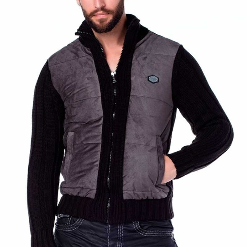 CIPO & BAXX STRICKJACKE modern CLASSIC DANIEL Mode CP136 Hipster Look anthracite