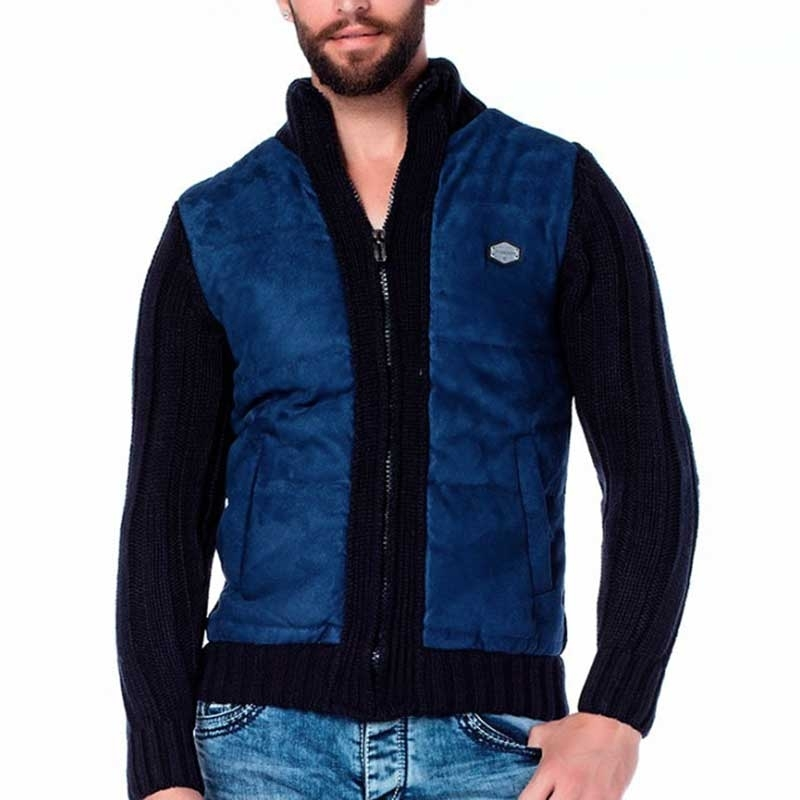 CIPO & BAXX CARDIGAN CP136 padding on the front