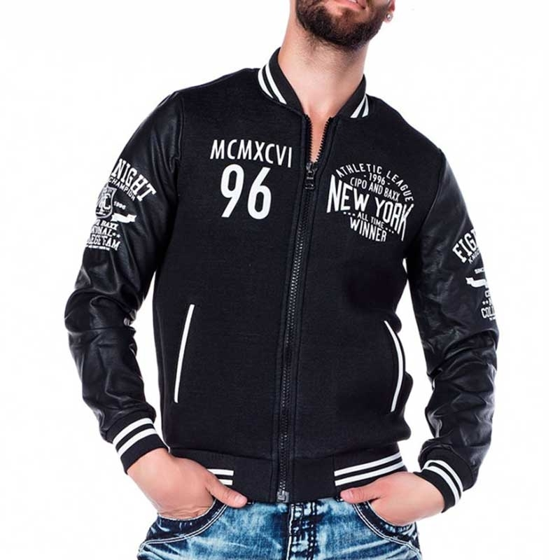 CIPO & BAXX JACKE comfort NEW YORK JOCK Winner CJ142 Athletik Wear black
