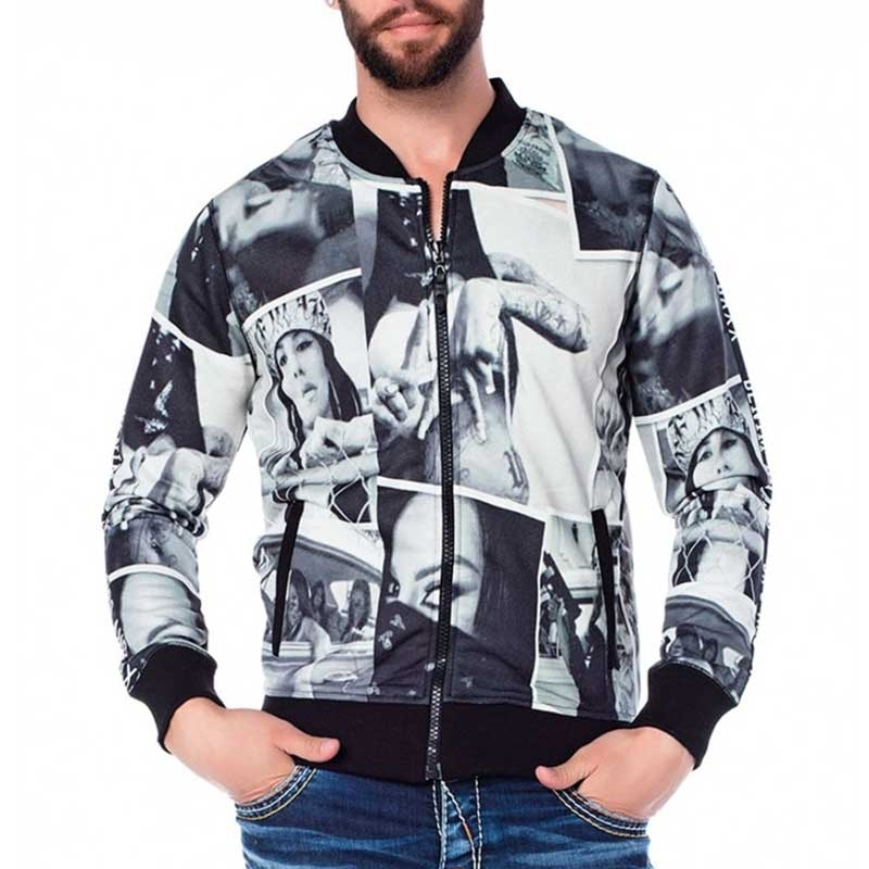 CIPO & BAXX JACKET CL165 with gangster print