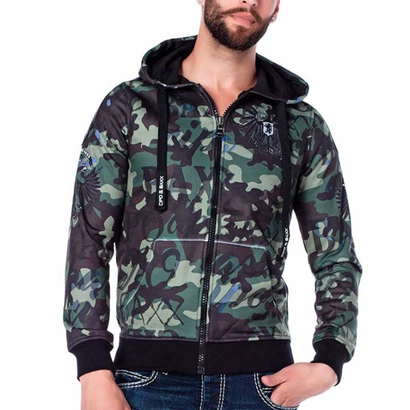 CIPO & BAXX SWEAT JACKET CL181 camouflage with eagle