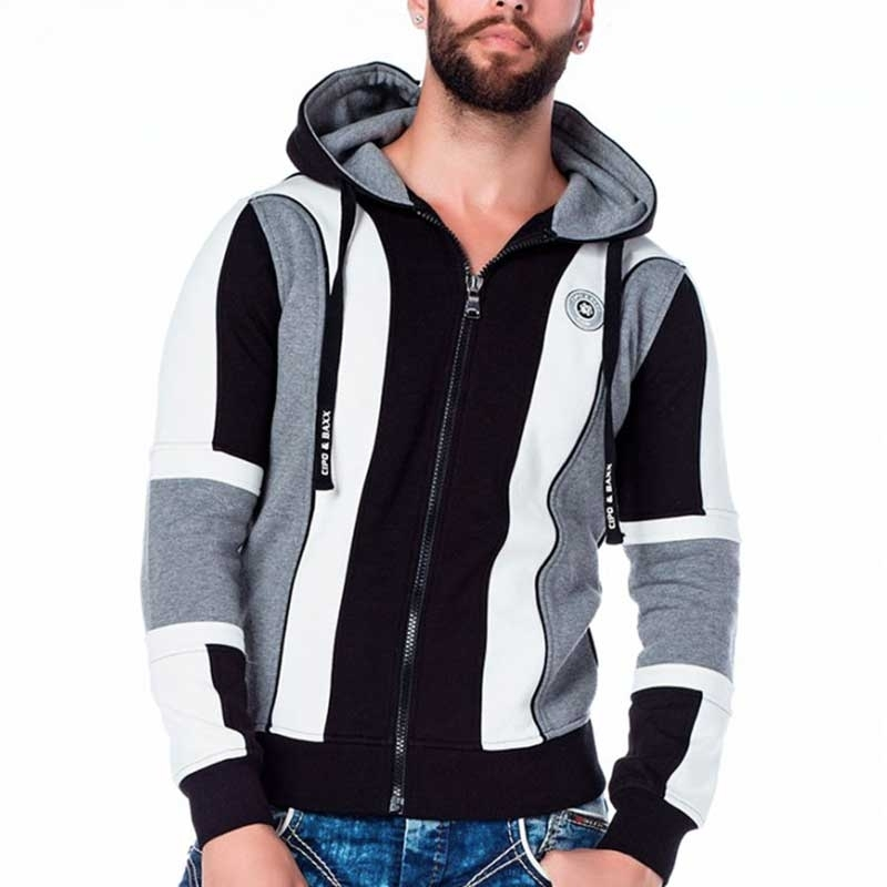 CIPO & BAXX SWEATJACKET CL186 geometric design