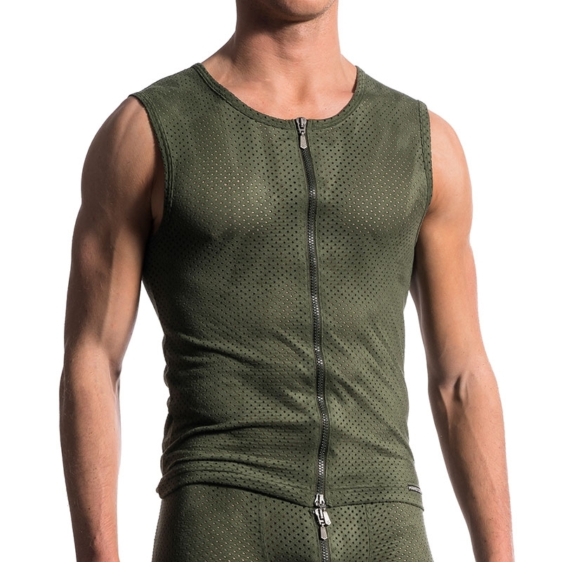 MANSTORE TANK Top comfort ARMY MESH DAVE Zipp M603 Club Wear olive
