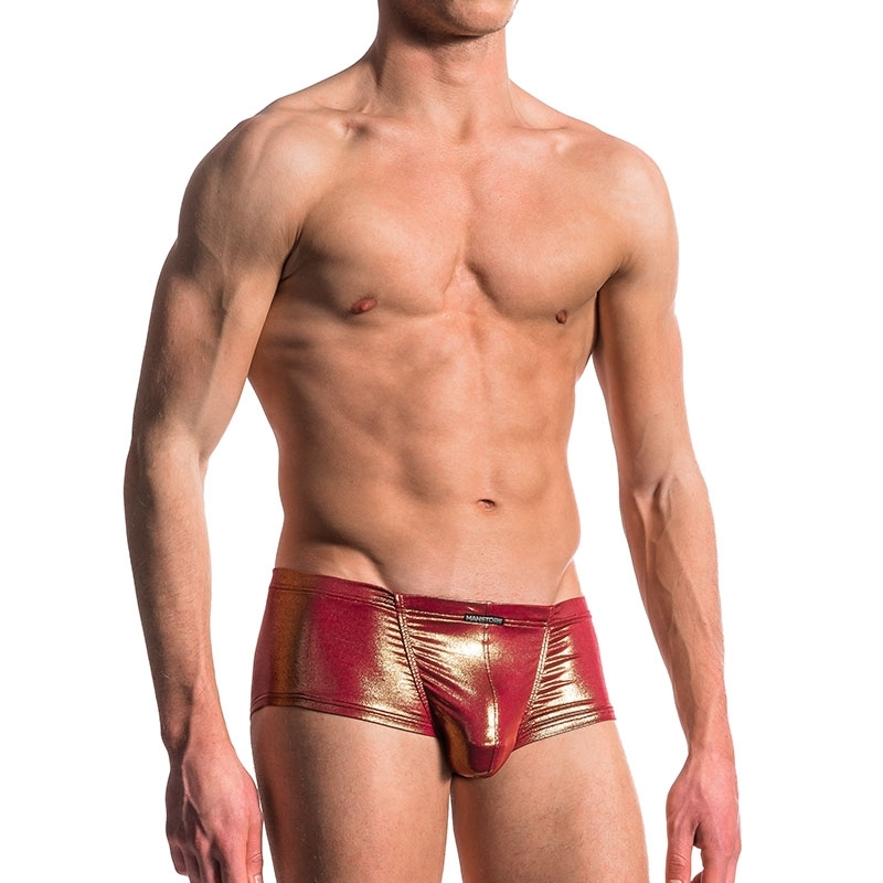 MANSTORE PANTS hot MICRO GOLD Glaenzen M606 Club Wear red-gold