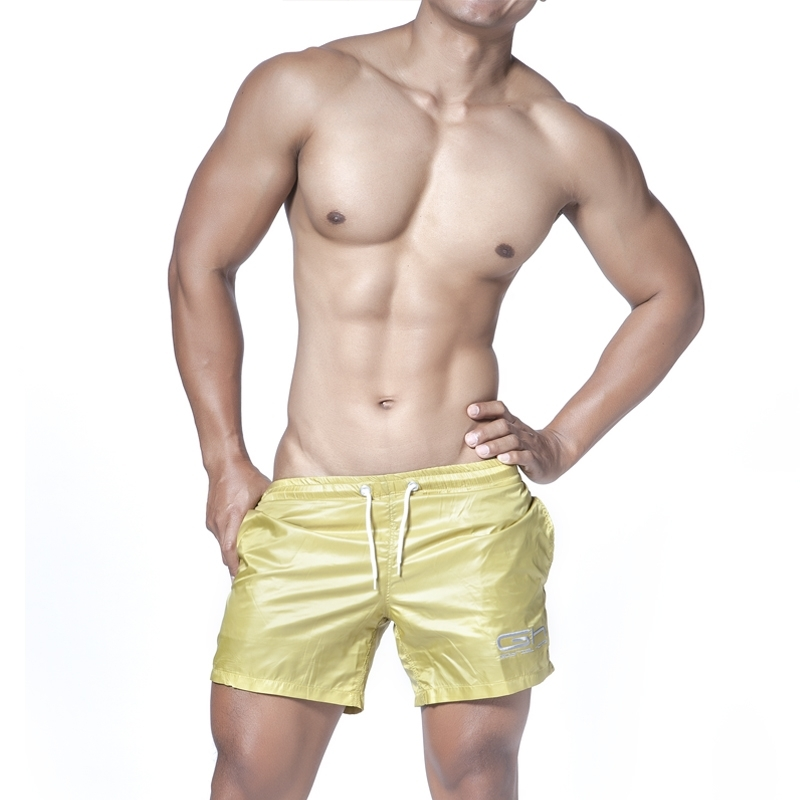 GABRIEL HOMME SHORTS Regular gogo SHEEN Swim GH-5-2601 Active Wear light gold