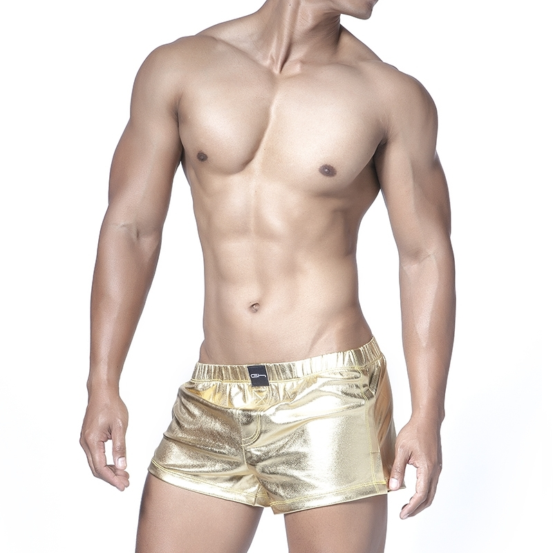 GABRIEL HOMME SHORTS hot HIGH Gogo Wet GH-5-2603 Disco Club Wear gold