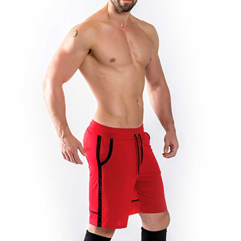 MISTER B SHORTS comfort URBAN SHEFFIELD Basketball MB-822032 Lounge Wear red