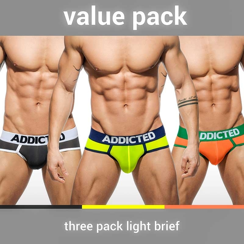 ADDICTED BRIEF shiny AD402P Style in a 3-value pack