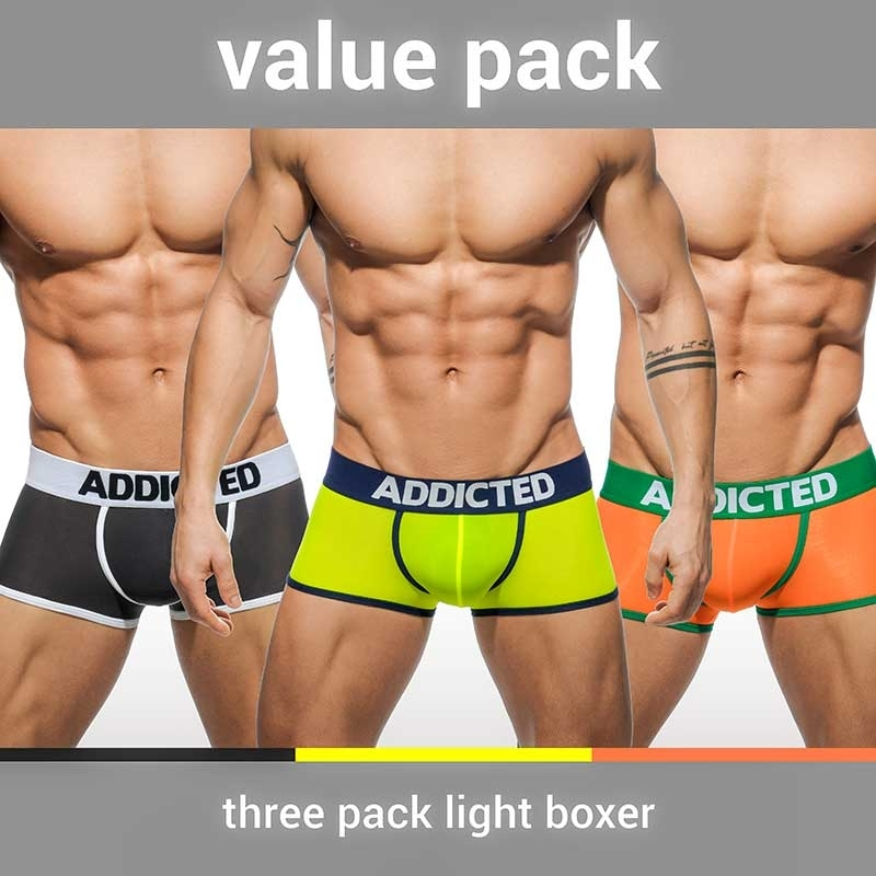 ADDICTED PANT sexy VALUE 3ER-PACK Basic AD-403P Mainstream Wear mehrfarbig