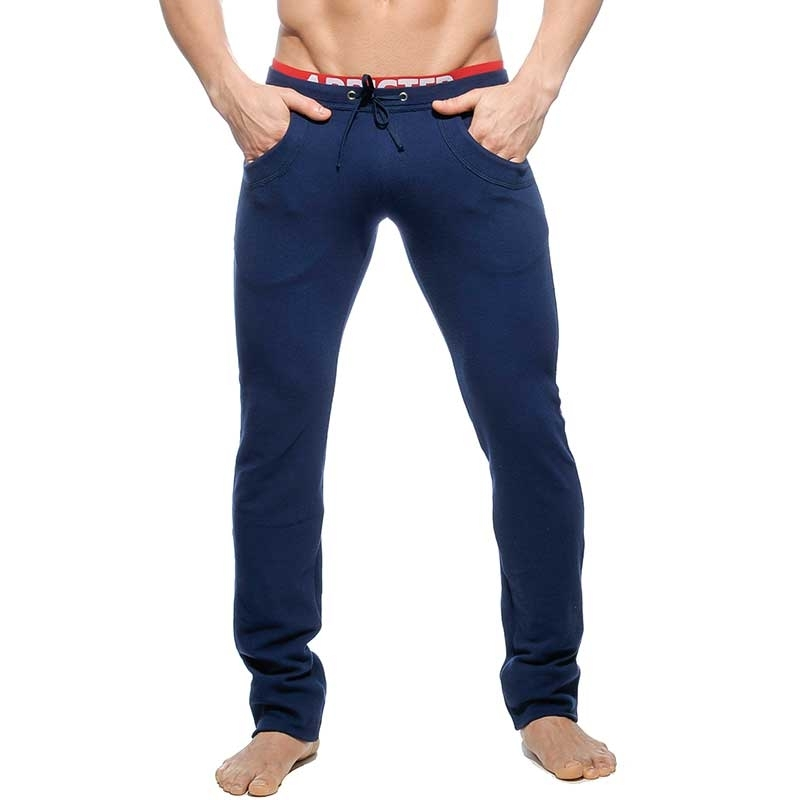 ADDICTED SPORT PANT AD416 fighter cut in dark blue