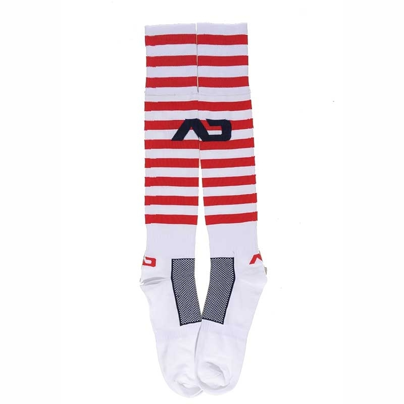 ADDICTED FOOTBALL SOCKS regular SAILOR STEVE Sea AD-380(88) Sportswear white-red