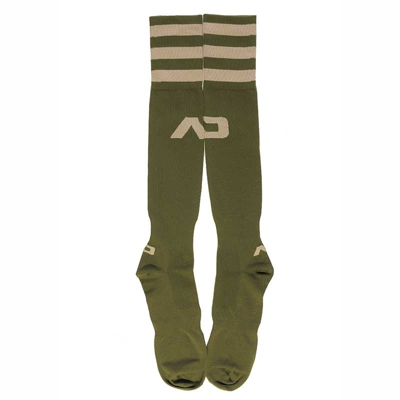 ADDICTED FOOTBALL SOCKS regular ACTIVE BRANDON Basic Army AD-382 Sportswear olive