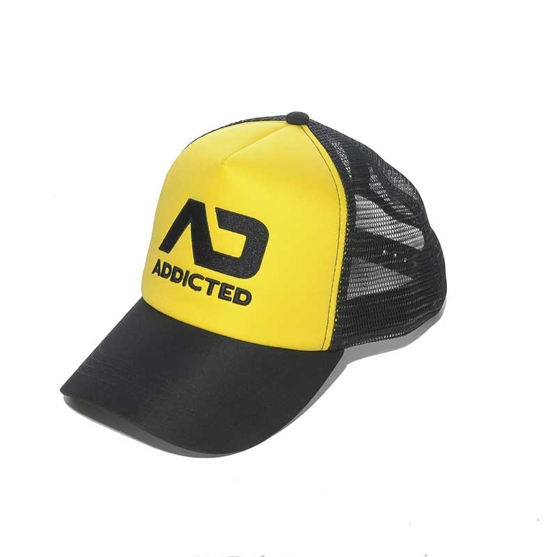 ADDICTED CAP hanky code AD385 Netz Basecap mit Paneel in yellow
