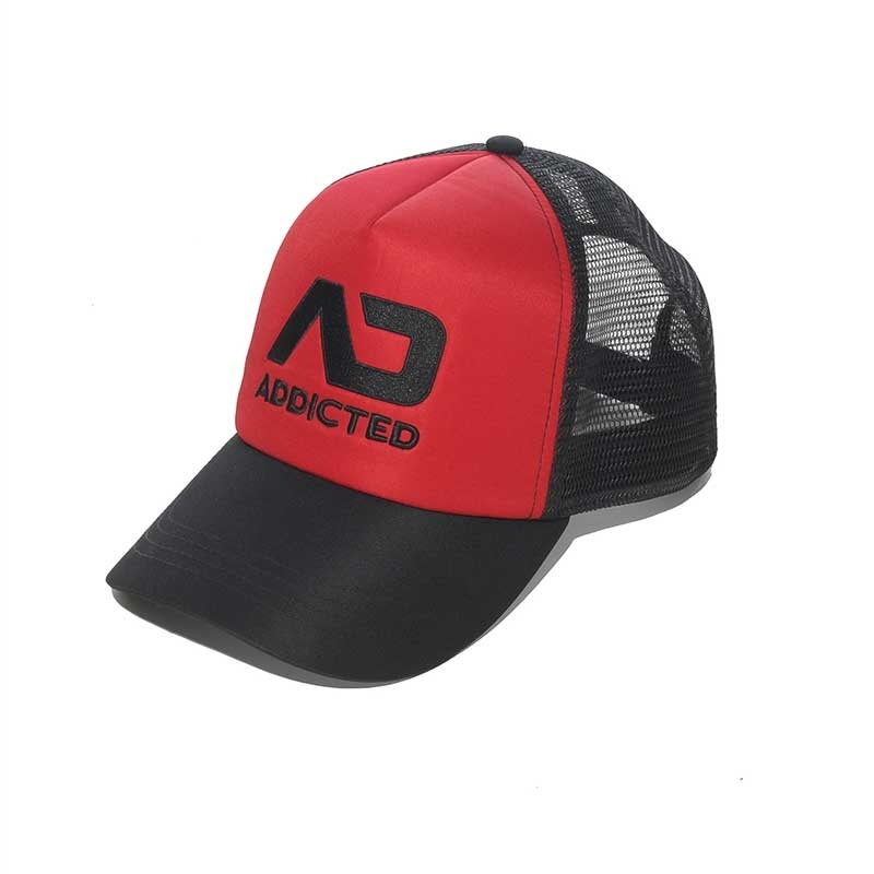 ADDICTED CAP hanky code AD385 Netz Basecap mit Paneel in red