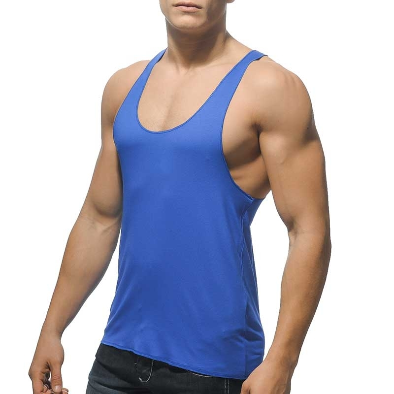 ADDICTED TANK TOP regular GYM TIME Athletik Luft AD-340 Sportswear blue