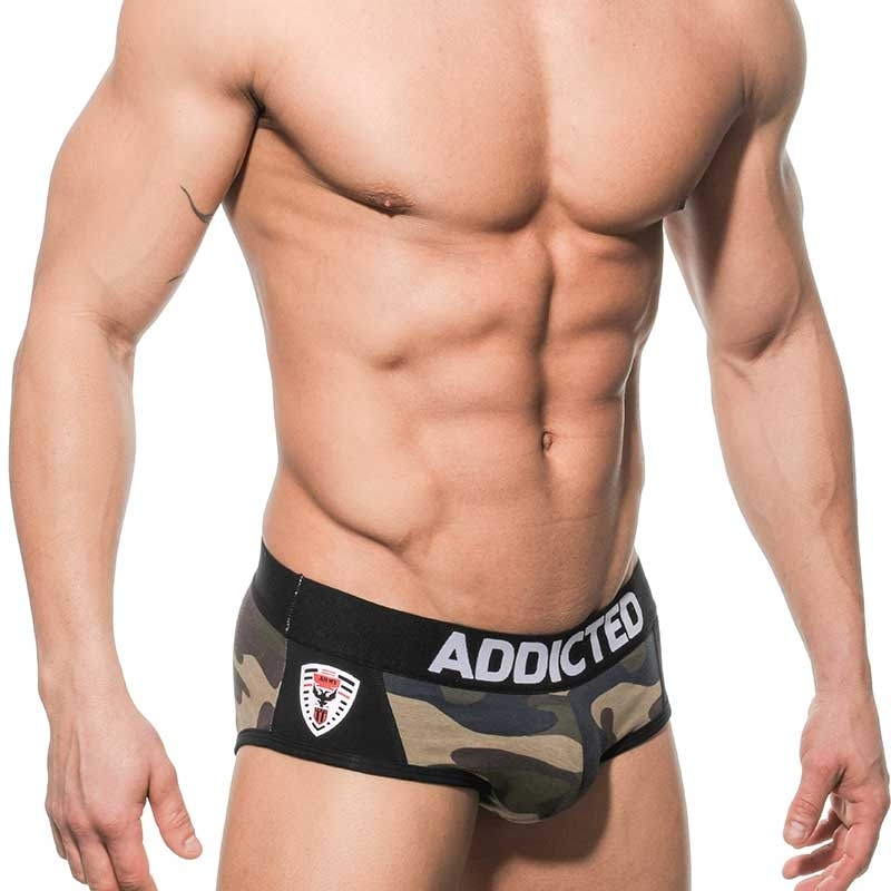 ADDICTED SLIP hot ARMY MAN JAN Club AD-145 Streetwear camouflage-black