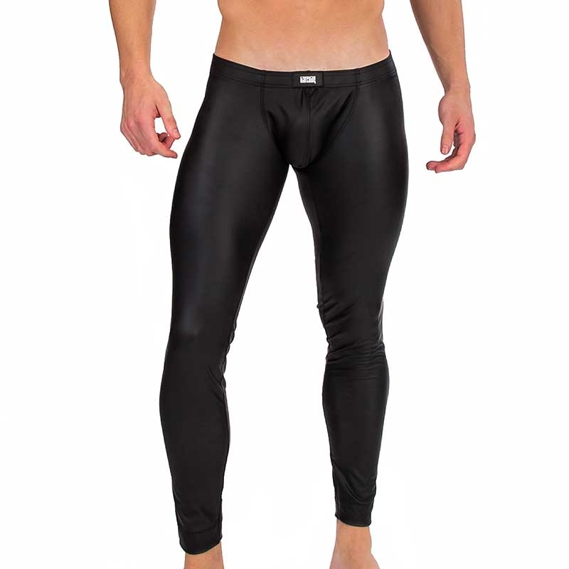 BARCODE Berlin neoprene like LEGGINGS wet MASON Club Wear 91324 black