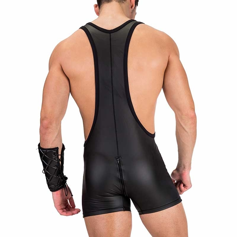 BARCODE Berlin RINGER neo Slim SINGLET DICK backless 91234 Neopren like black