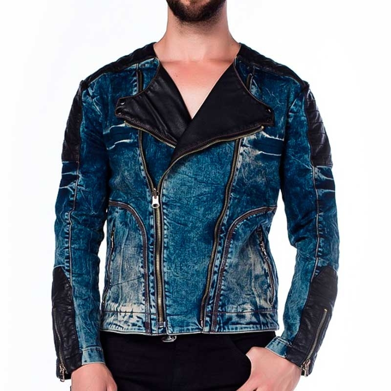 CIPO and BAXX JEANSJACKE modern DARK ROCK Band CJ135 Mainstream denim