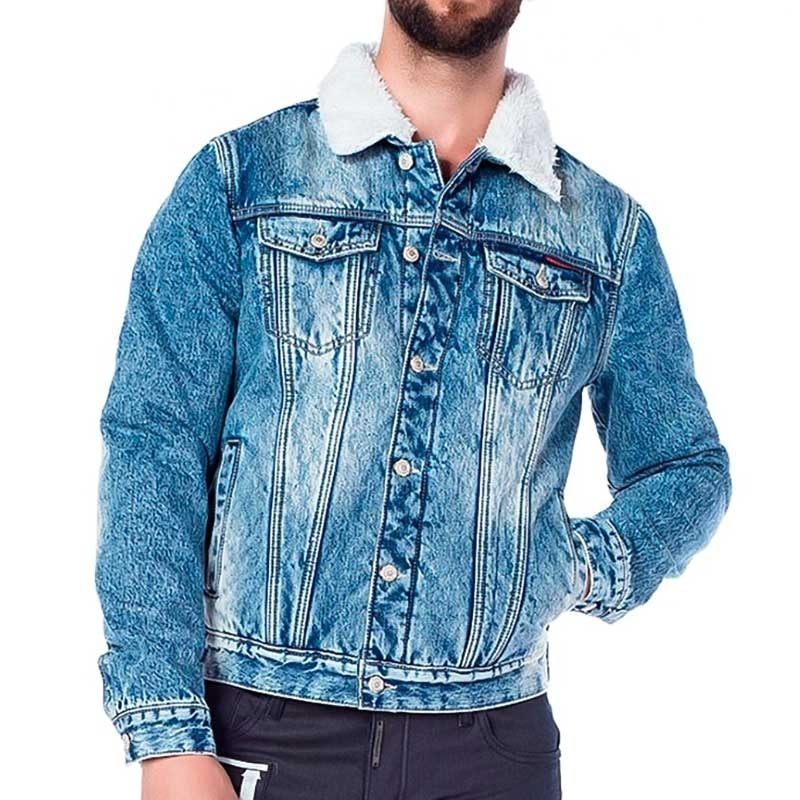 CIPO and BAXX JEAN JACKET CJ136 with synthetic fur lining