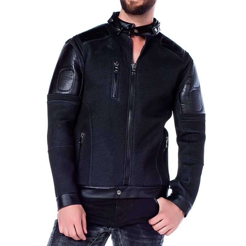 CIPO and BAXX JACKE comfort NIGHT RIDER Wetlook CJ146 Streetwear black