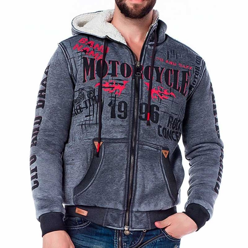 CIPO and BAXX SWEATJACKE CL207 Kunstfell Futter